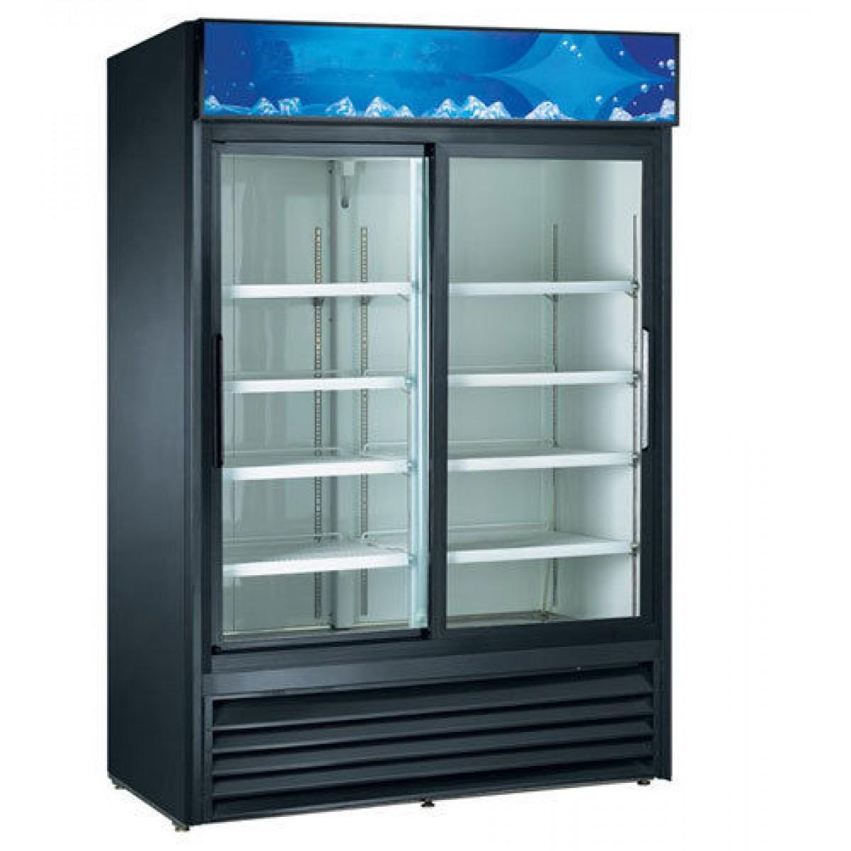 Double Sliding Glass Door Cooler Glass Door Merchandizers