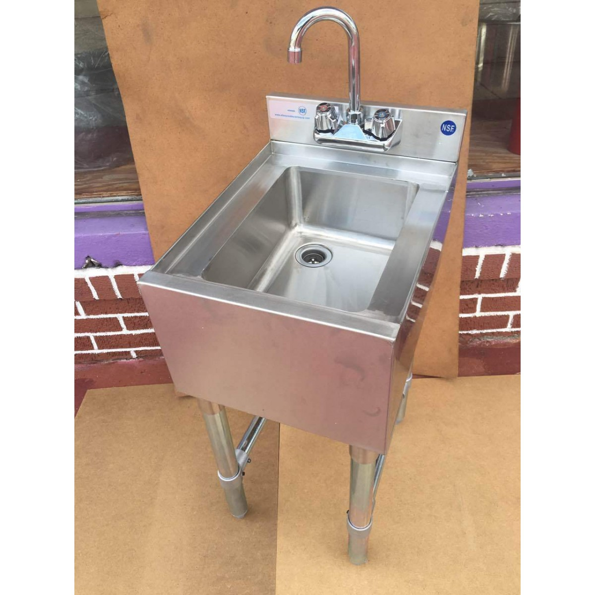 Commercial Single Compartment Bar Sink Bar Hand Sink