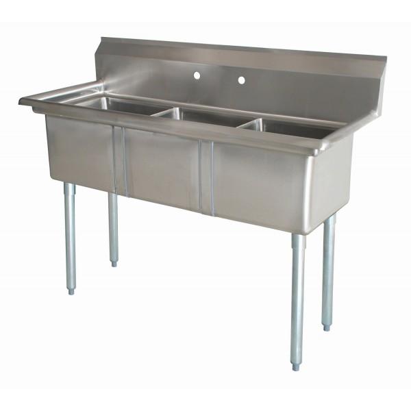 Sink(Three Compartment_ No Drainboard 01)