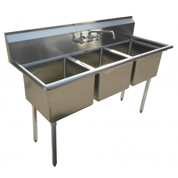 Sink(Three Compartment_ No Drainboard 02)