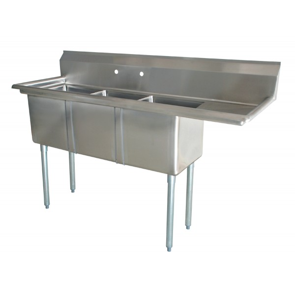 Sink(Three Compartment_ Right Drainboard)