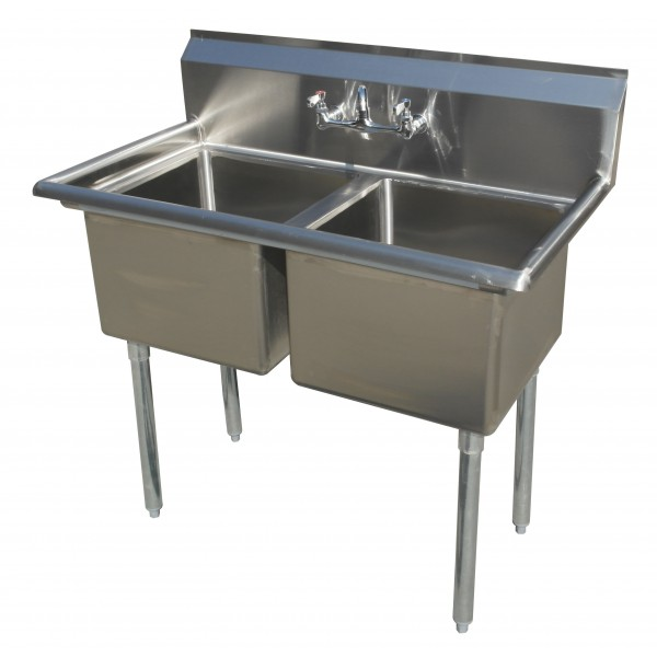 Sink(Two Compartment_ No Drainboard 02)