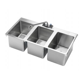 3-Comp Drop-in Sink