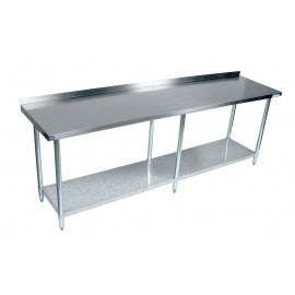 96 Inch Work Table With 2 inch Back Splash