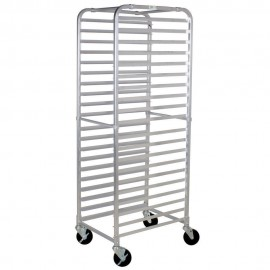 Commercial Kitchen 20 Tier Aluminum Bum Pan Rack / Sheet Pan Rack - Unassembled