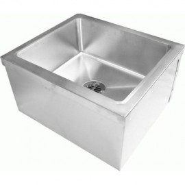 "Commercial Stainless Steel Floor Mount Mop Sink,20""Wx24""Lx11-1/2""H"