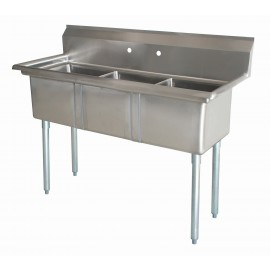 Sink(Three Compartment_ No Drainboard 01)
