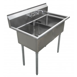Sink(Two Compartment_ No Drainboard 01)