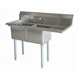 Sink(Two Compartment_ Right Drainboard 01)
