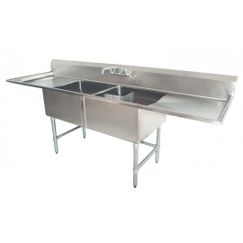 Sink(Two Compartment_ Two Drainboard 01)
