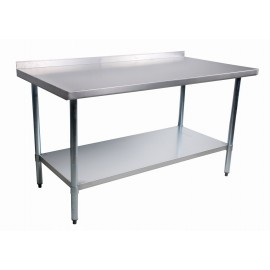 Worktable With Rear Edge Up